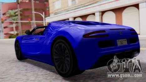 GTA 5 Truffade Adder Convertible for GTA San Andreas left view