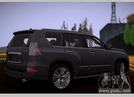 Lexus GX460 2014 for GTA San Andreas back left view