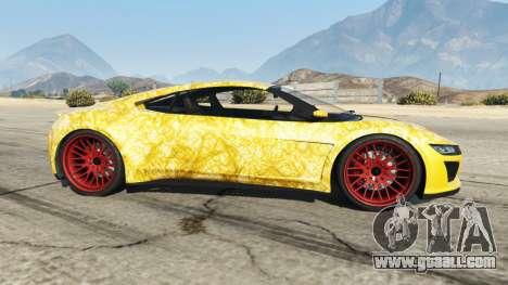 GTA 5 Dinka Jester (Racecar) Gold left side view