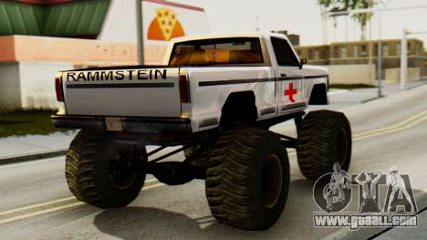 New original painting for A Monster for GTA San Andreas left view