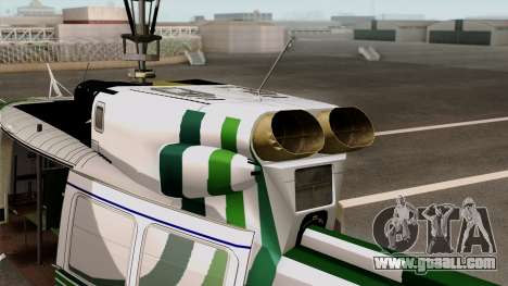 Bell UH-1N NAJA for GTA San Andreas back left view