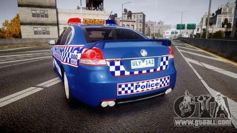 Holden VE Commodore SS Highway Patrol [ELS] v2.0 for GTA 4 back left view