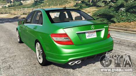 GTA 5 Mercedes-Benz C63 (W204) AMG rear left side view