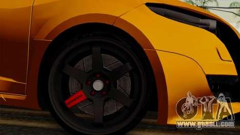 Renault Megane Sport HKNgarage for GTA San Andreas back left view