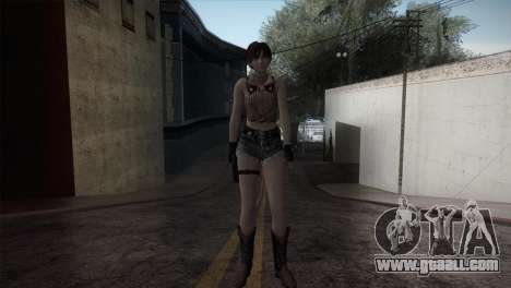 Resident Evil HD - Rebecca Chambers Cowgirl for GTA San Andreas second screenshot