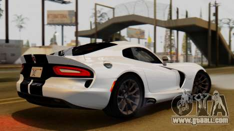 Dodge Viper SRT GTS 2013 IVF (HQ PJ) LQ Dirt for GTA San Andreas back left view