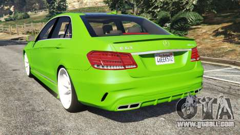 GTA 5 Mercedes-Benz E63 (W212) AMG v1.1 rear left side view