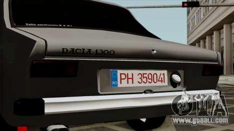 Dacia 1300 for GTA San Andreas back view
