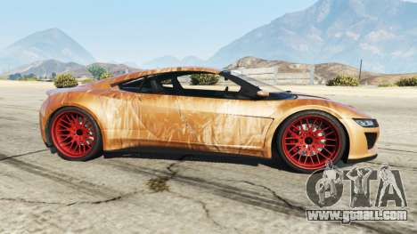 GTA 5 Dinka Jester (Racecar) Chocolate left side view