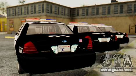 Ford Crown Victoria 2009 LAPD for GTA San Andreas left view