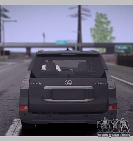 Lexus GX460 2014 for GTA San Andreas right view