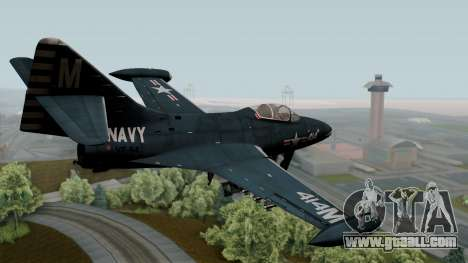 Grumman F9F-5 Phanter for GTA San Andreas left view