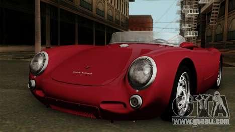 Porsche 550A Spyder 1956 for GTA San Andreas