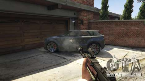 GTA 5 Battlefield 4 AK-12 ninth screenshot