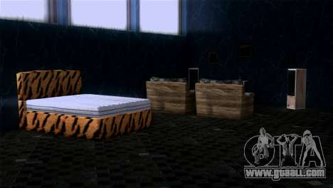 Retextured interior of the mansion MADD Dogg for GTA San Andreas