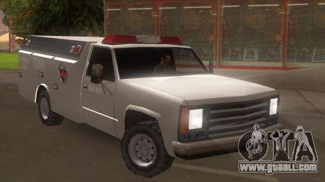 FDSA Fire Van for GTA San Andreas back left view