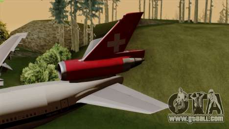 DC-10-30 Swissair for GTA San Andreas back left view