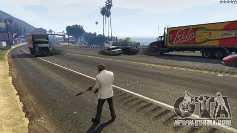 GTA 5 The explosion left the tires of nearby cars 2.0 fourth screenshot