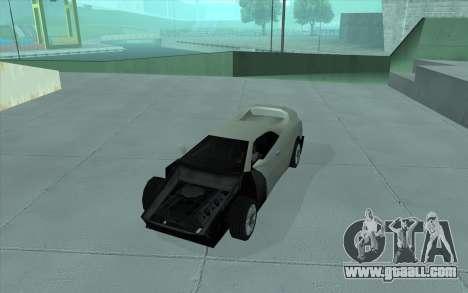 GTA 3 Infernus SA Style for GTA San Andreas back view