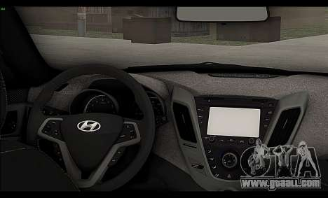 Hyundai Veloster 2012 for GTA San Andreas inner view
