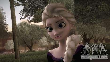 Elsa Frozen HQ Dress for GTA San Andreas