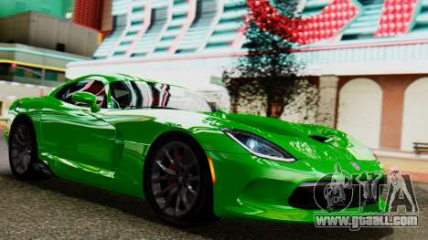 Dodge Viper SRT GTS 2013 IVF (MQ PJ) No Dirt for GTA San Andreas