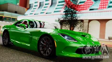 Dodge Viper SRT GTS 2013 IVF (MQ PJ) No Dirt for GTA San Andreas