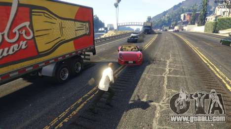 GTA 5 The explosion left the tires of nearby cars 2.0 third screenshot