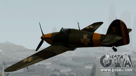Hawker Hurricane Mk1 - Romania Nr. 1 for GTA San Andreas left view