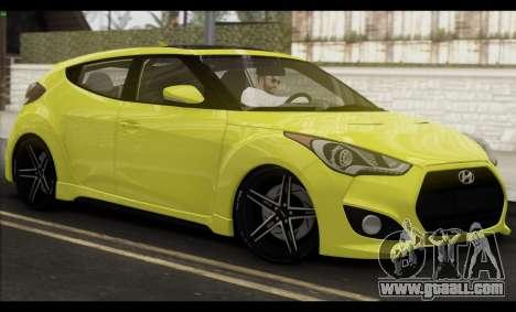 Hyundai Veloster 2012 for GTA San Andreas upper view
