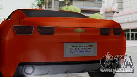 NFS Carbon Chevrolet Camaro IVF for GTA San Andreas right view