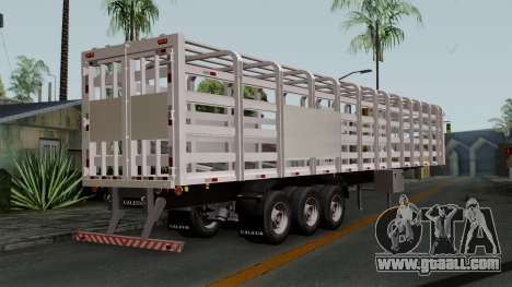 Trailer Rejas Gas for GTA San Andreas left view