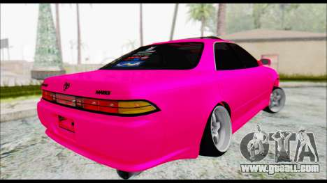 Toyota Mark 2 90 Stock3 for GTA San Andreas back left view