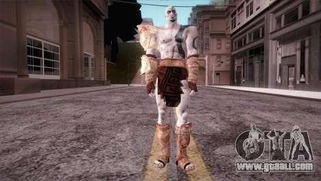 God Of War 3 Kratos Blue for GTA San Andreas second screenshot
