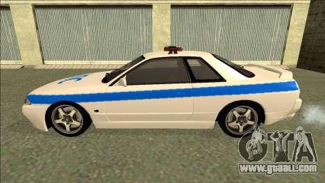 Nissan Skyline R32 Russian Police for GTA San Andreas interior