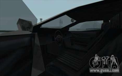 GTA 3 Infernus SA Style for GTA San Andreas inner view