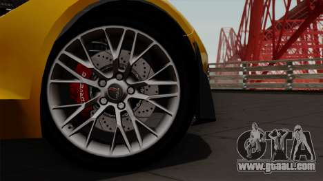 Chevrolet Corvette Z06 1.0.1 for GTA San Andreas right view