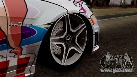 Mercedes-Benz C63 AMG Momoka and Nonoka Itasha for GTA San Andreas back left view