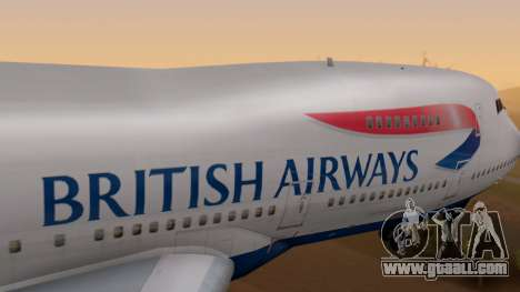 Boeing 747-200 British Airways for GTA San Andreas right view