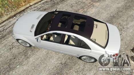 GTA 5 Mercedes-Benz S500 W221 v0.3 [Alpha] back view