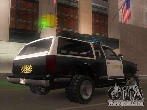 Yosemite Police 2015 for GTA San Andreas left view