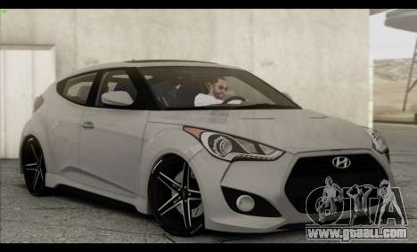 Hyundai Veloster 2012 for GTA San Andreas engine