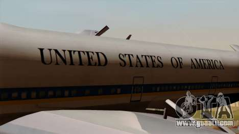 Boeing 747 Air Force One for GTA San Andreas back view