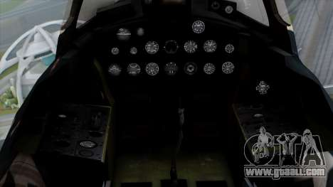 Grumman F9F-5 Phanter for GTA San Andreas back view