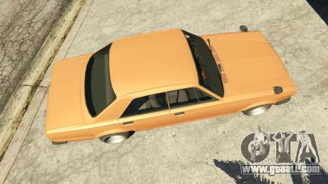 GTA 5 Nissan Skyline 2000 GT-R 1970 v0.1 [Beta] back view