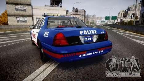 Ford Crown Victoria Alderney Police [ELS] for GTA 4 back left view