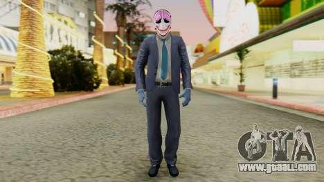[PayDay2] Hoxton for GTA San Andreas second screenshot