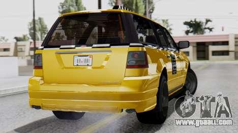 Vapid Landstalker Taxi SR 4 Style Flatshadow for GTA San Andreas left view