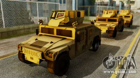 PR BF2 US Army UpArmored Humvee Armed with MK19 for GTA San Andreas