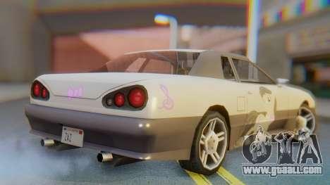Elegy Octavia Pony Vinyl for GTA San Andreas left view